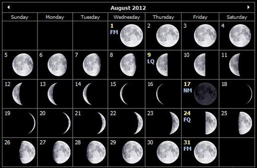 Aug 2012 moon calendar