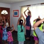 Learning dance with Maya akka
