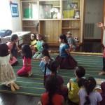 Learning songs from Uma akka