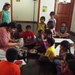 Making Bhel poori with Surabi aunty