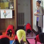 Yoga teacher Ms. Michelle