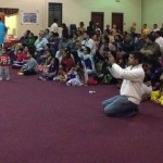 Devotees enjoying Madhuragitam event