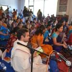 Devotees enjoying Radha Kalyanam